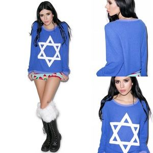 Wildfox Couture Baggy Star Of David Sweatshirt